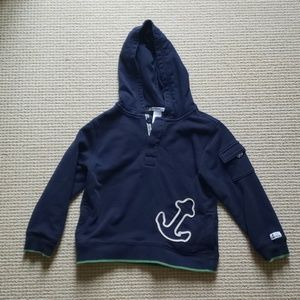 Janie and Jack navy blue anchor hoodie size 5